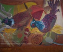 Two Game Fowl - Pheasants by ShinLadyAnarki