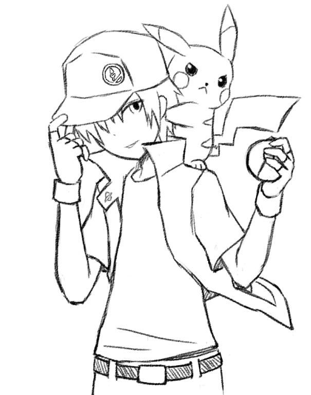 Pokemon Trainer Red by Kinoukiri