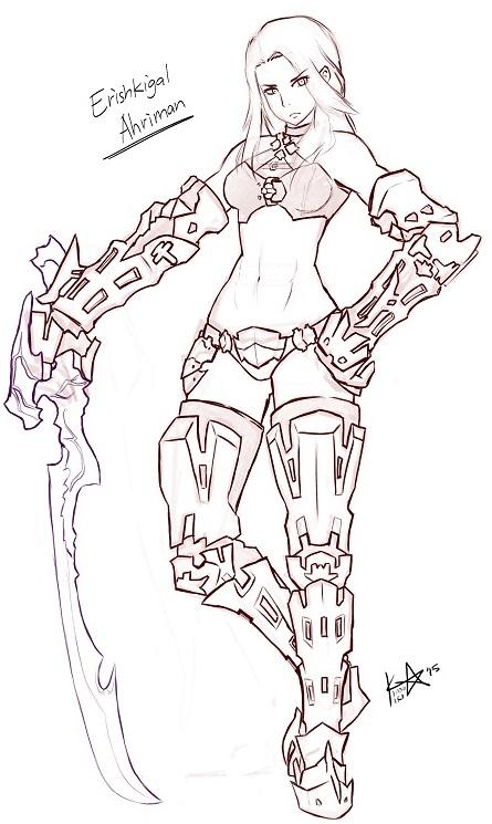Roegadame sketch by Kinoukiri