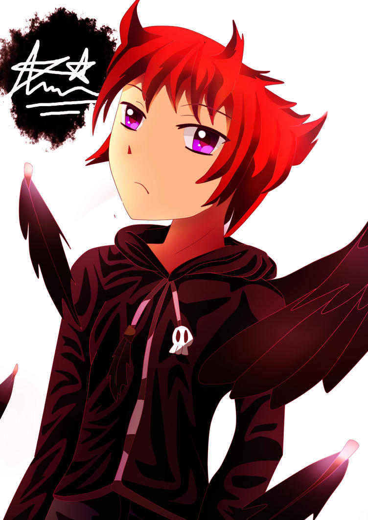 My 1st main OC: Kazeto Kuroten the black angel by Adityadark67