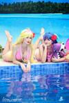 Panty and Stocking bikini version - In Summer