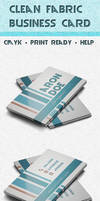 Clean fabric business card