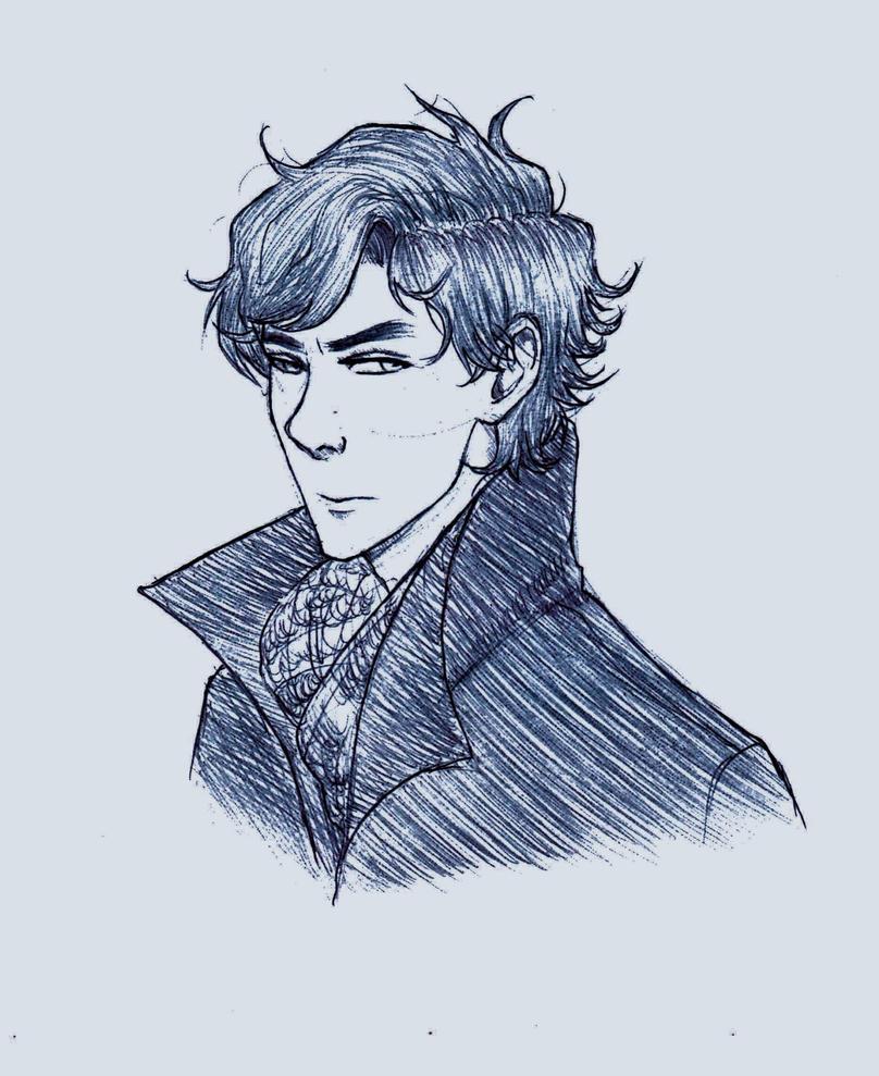 BBC Sherlock Sketch by Scribblerb