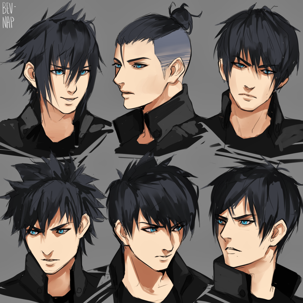 Anime Characters Male Black Hair : Cloud and ff boys favourites by priteeboy on deviantart