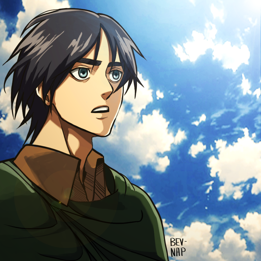 Long Haired Eren Animation Style By Bev Nap On Deviantart