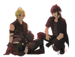 Chocobros and a Chocobo (Commission)