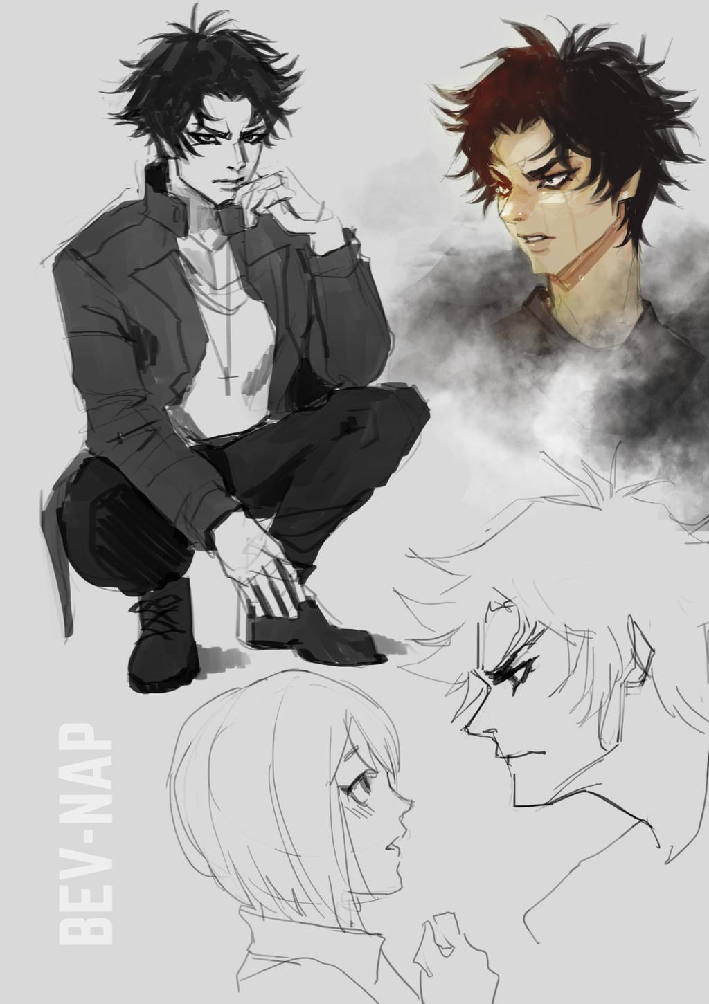 Akira Sketch Dump by Bev-Nap