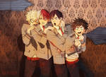 Haunted House scare BNHA
