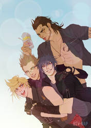 Pile of Chocobros (Commission) by Bev-Nap