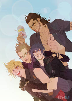 Pile of Chocobros (Commission)