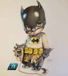 Little Batman Drawing  by p-yeah