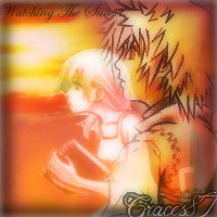 Namine and Roxas Setting Sun by Graces87