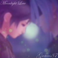 Xion and Riku Moonlight Love by Graces87