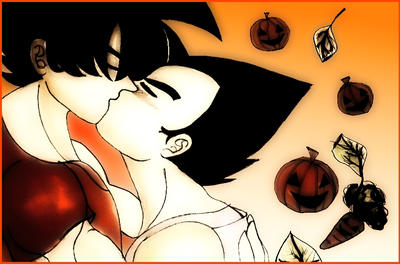 Halloween kiss by SSJ-Princess-Bijou