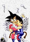 Chibi vegeta x Chibi Goku