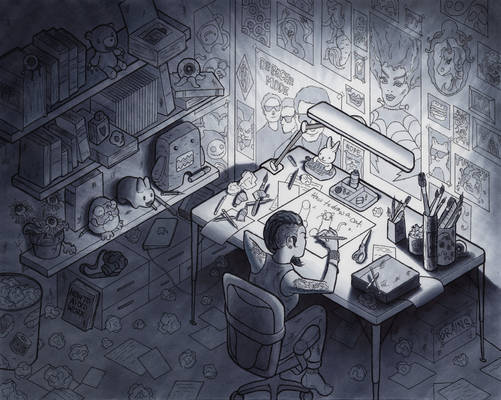 In My Room (Isometric Perspective)