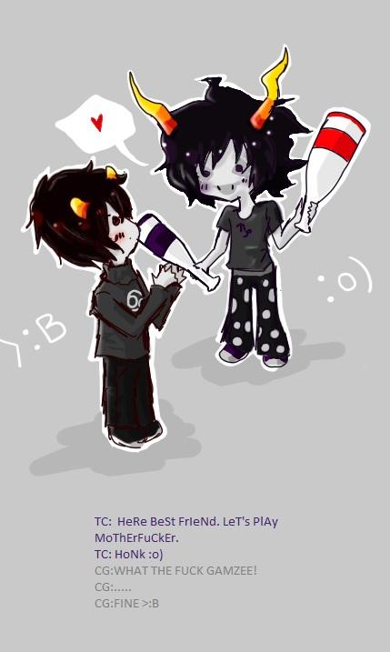 Gamzee and Karkat by IisHari-chan