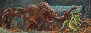 Rancor Attack by RobbVision