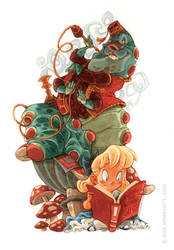 Alice and The Caterpillar by RobbVision