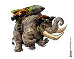 Ill-tempered Elephant