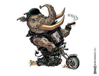 Bikerphant by RobbVision