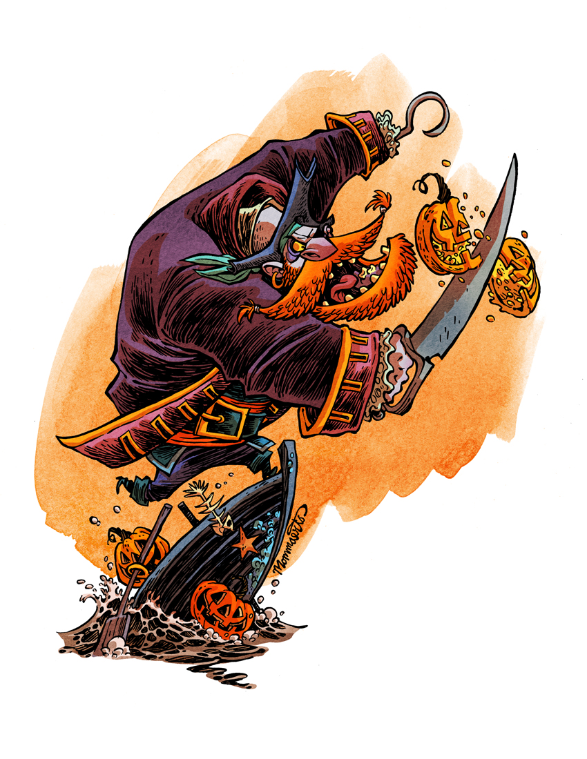 Punkin' Pirate by RobbVision