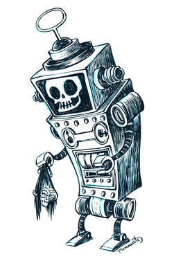 Inktober Robot