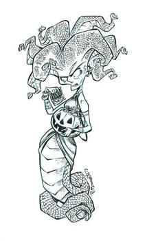 Inktober Gorgon #17