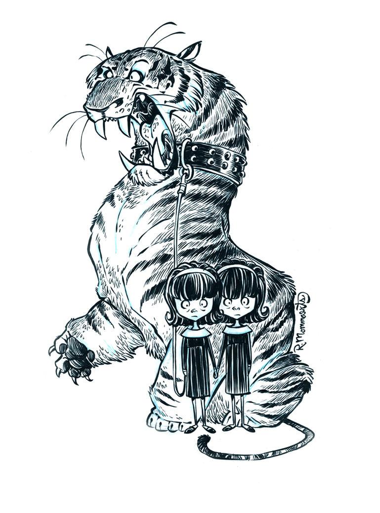 Inktober Tiger 19 by RobbVision