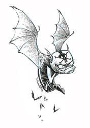 Inktober Stunt-Bat #23 by RobbVision