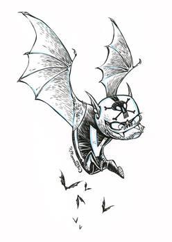 Inktober Stunt-Bat #23
