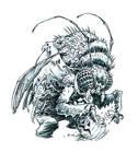 Inktober Bug-Man #24