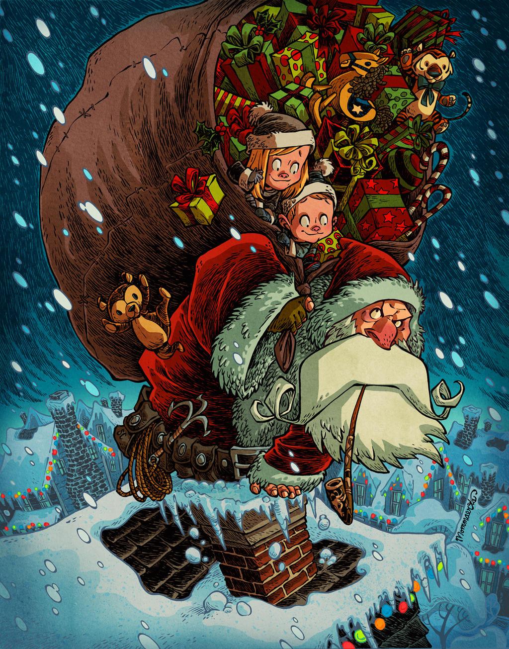 Santa Stowaways by RobbVision