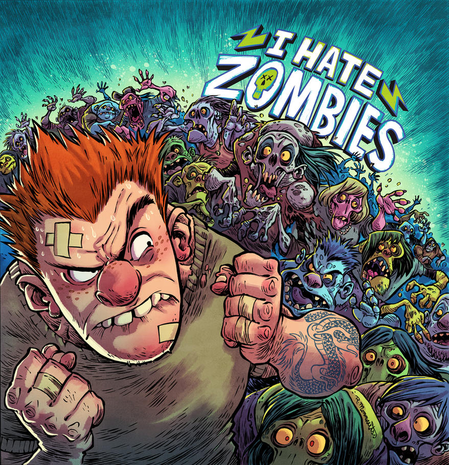 I HATE ZOMBIES Game Cover Art by RobbVision
