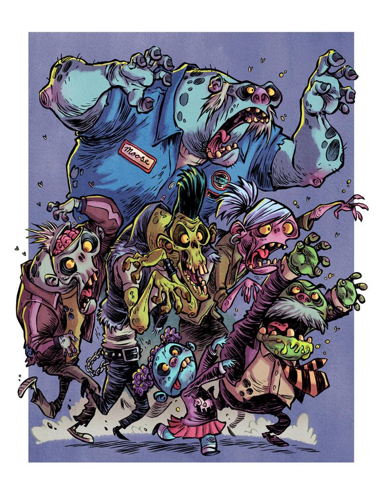 Zombie Horde Art I Hate Zombies:...