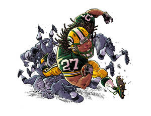 Eddie Lacy of the Green Bay Packers