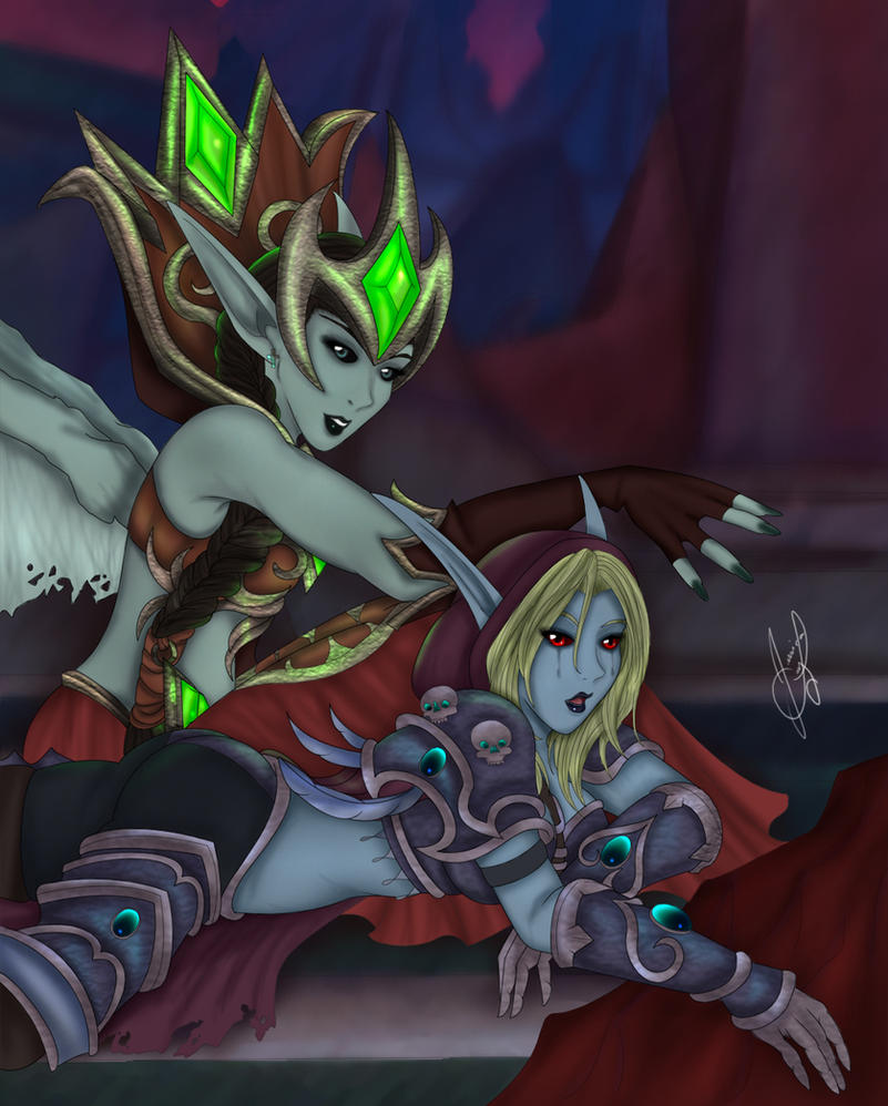 Sylvanas and Lana'thel by Sekky