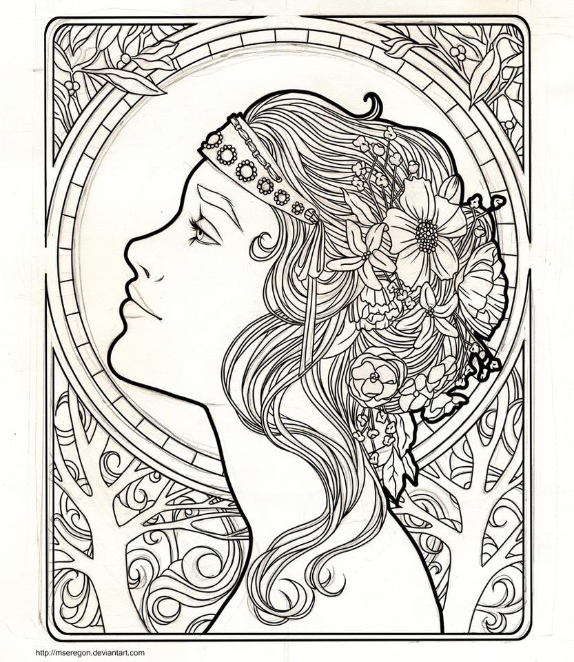 WIP: Art Nouveau by mseregon on DeviantArt