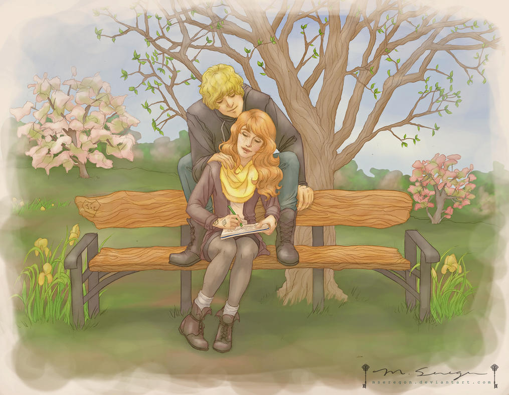 Mortal Instruments: Jace and Clary in the Spring by mseregon