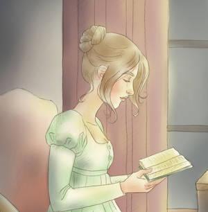 Pride and Prejudice: Lizzy reading