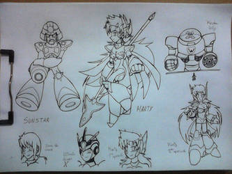 MegaMan and X Underknown Characters by 1erickf50