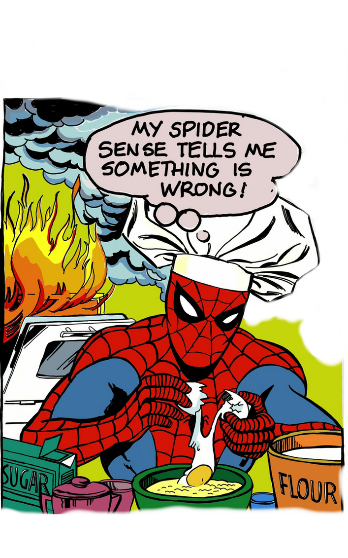My Spiderman cooking :) by SarkaArslan