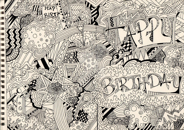 Happy birthday card outline by greyfaerie10 on deviantart happy birthday card outline by greyfaerie10 bookmarktalkfo Image collections
