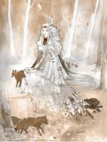Snow Queen by saprophilous