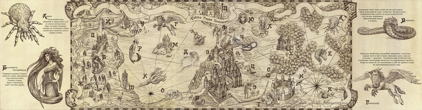 The HP Map by Sia-chan