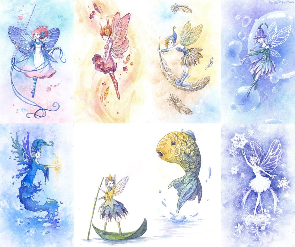 Moar fairies by Sia-chan