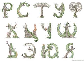 Dryad alphabet 2