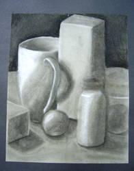 Charcoal Still Life by Ramani-Rayne