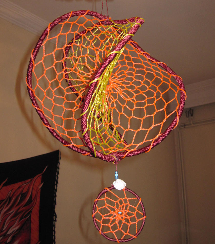 Double dreamcatcher by ursulaa on deviantart for How to make a double ring dreamcatcher