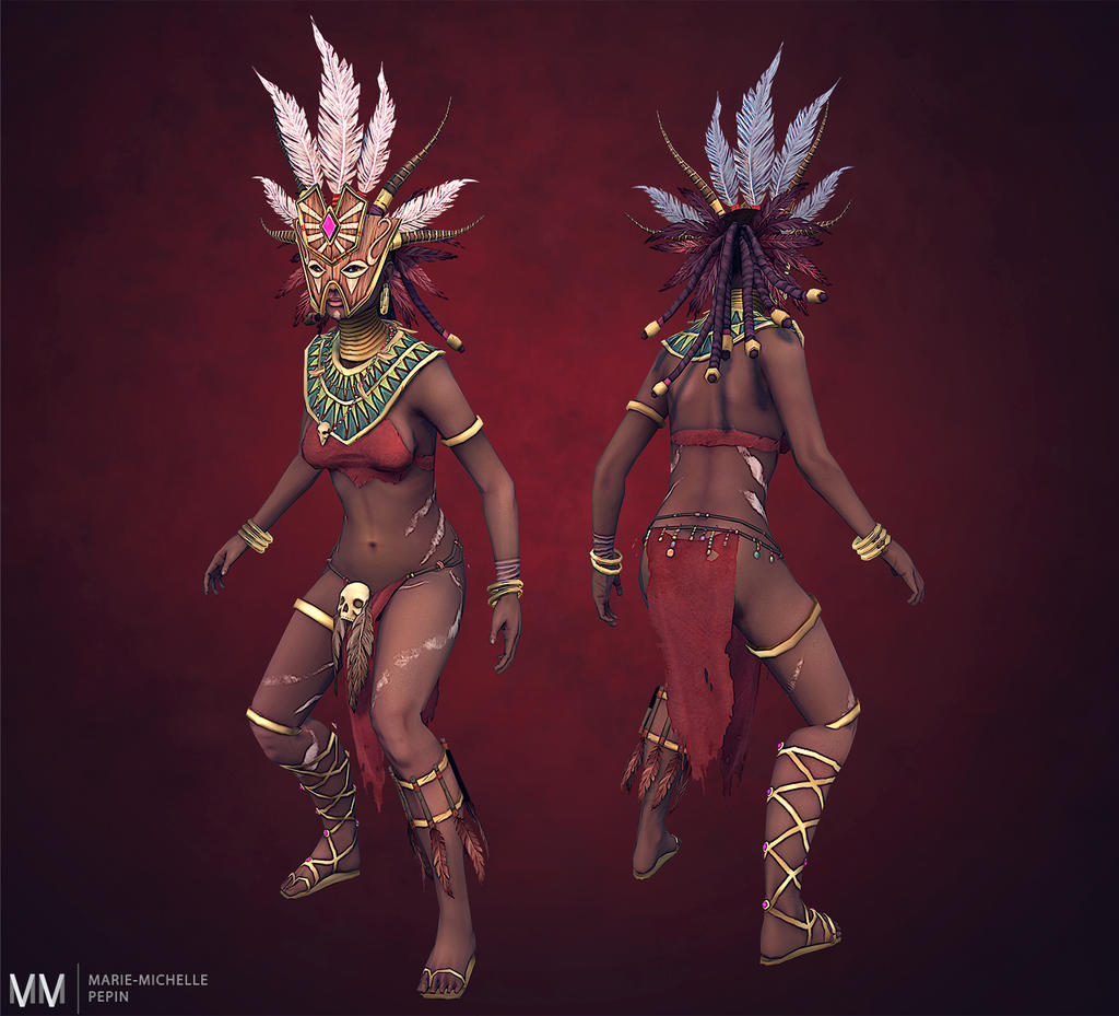 Diablo III Witch doctor posed by Azraele on DeviantArt